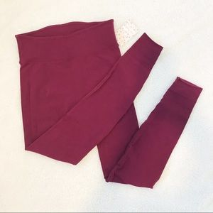 Free People High Waisted Sculpt Leggings Purple